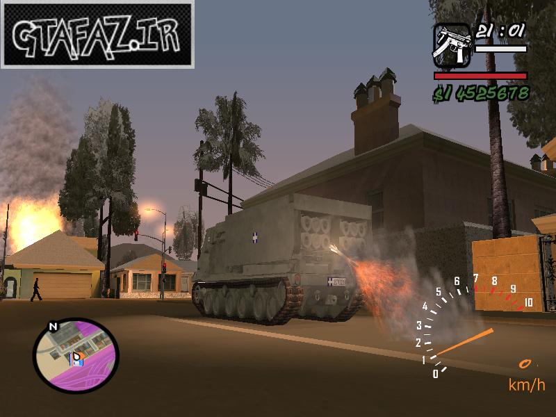 دانلود موشک انداز M270 MLRS برای GTA SA