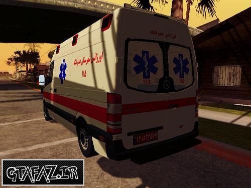 دانلود آمبولانس ایرانی برای GTA SanAndreas