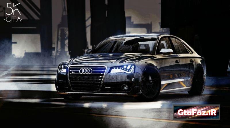 دانلود ماشین AudiS8 برای Gta V