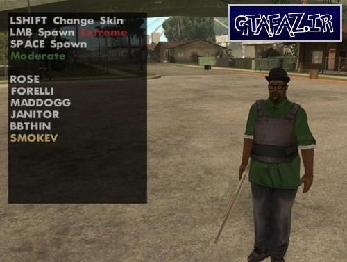 تغییر آسان اسکین یا لباس CJ در بازی GTA 5 با مود Skin Selector